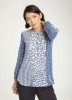 Blue & White 'Book' Blouse by Thought - WWT4330 - Ellinor